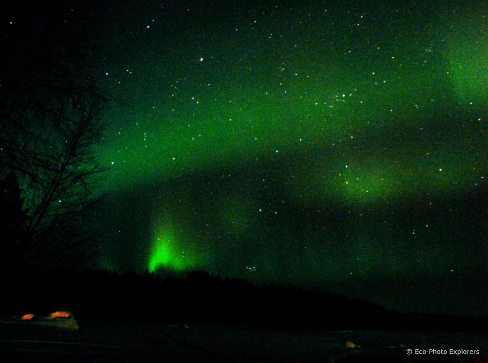 The spectacular Northern Lights (Aurora Borealis). Nikon D200, 18mm, f5.6, 30sec