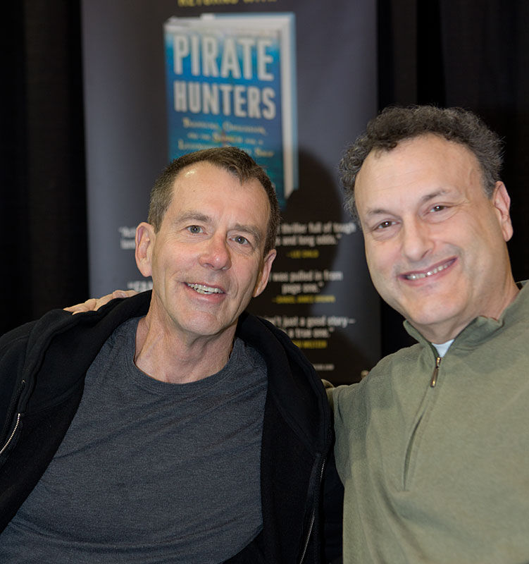 """John Chatterton and Robert Curson, author of the bestseller """"Shadow Divers"""" and the soon to be released """"Pirate Hunters"""""""