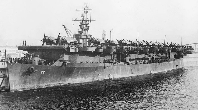 The former USS Independence served during American naval offensive in Pacific theater