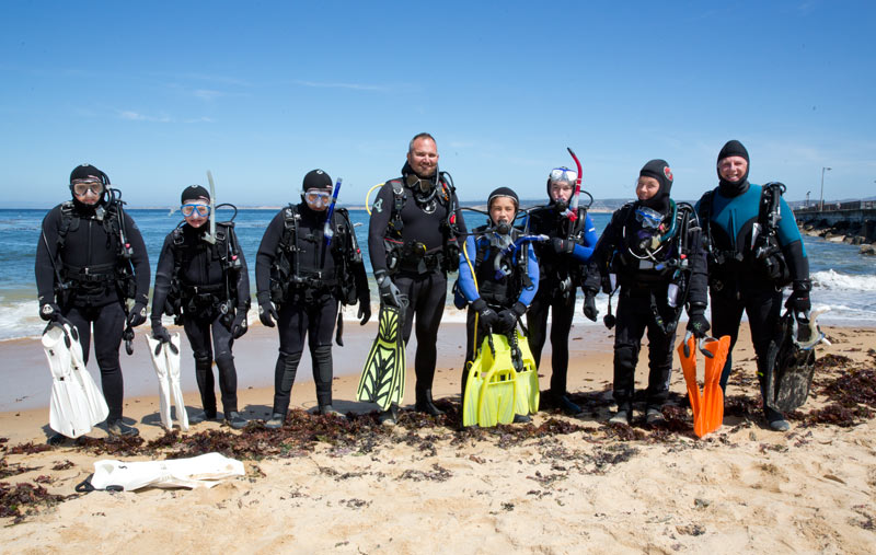 The certified divers after their first 3 dives on Saturday