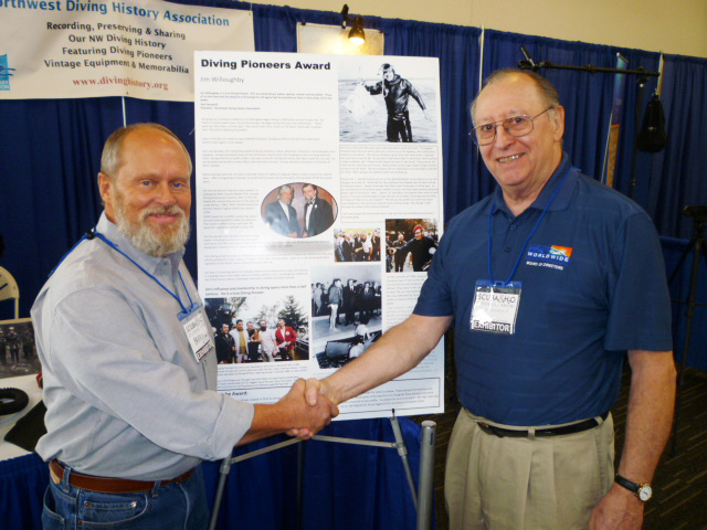 Board Members Barry Dunford & Tom Hemphill at the 2015 Seattle Scuba Show