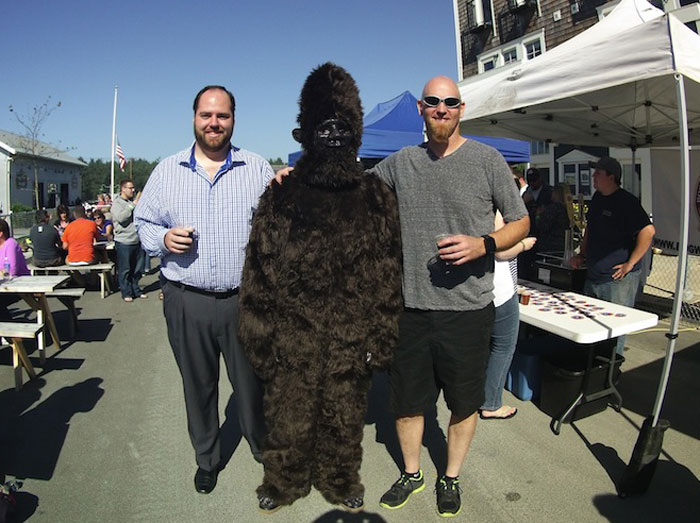 The H3 can be worn as a wristwatch and it definitely grabs the attention of the watch techies out there. Enjoying a cold brew with a hairy friend at the Big Foot Brew Fest, in Seabrook, WA on the way home after a morning of diving.