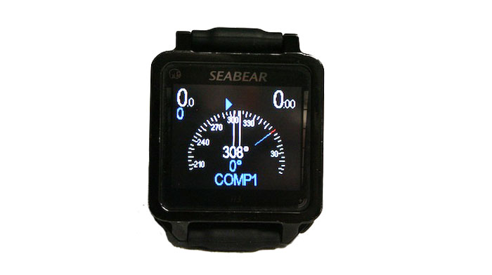 The programmable headings on the compass make following your course quite easy, if you get off course, blue arrows point left or right to help direct you back on course.