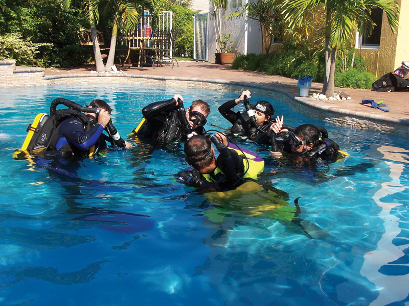 Being a safe diver always begins with proper training, and specialized training for the environment you're diving in. Photo: Jeff Bozanic