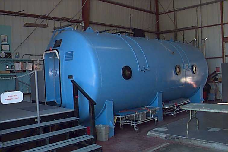 The hyperbaric chamber on Catalina Island.