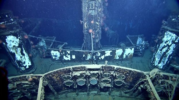 The top deck of the SS Robert E. Lee. Photo: Ocean Exploration Trust