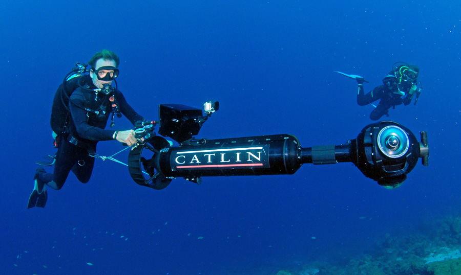 Christophe Bailhache driving the SVII Camera in Curacao