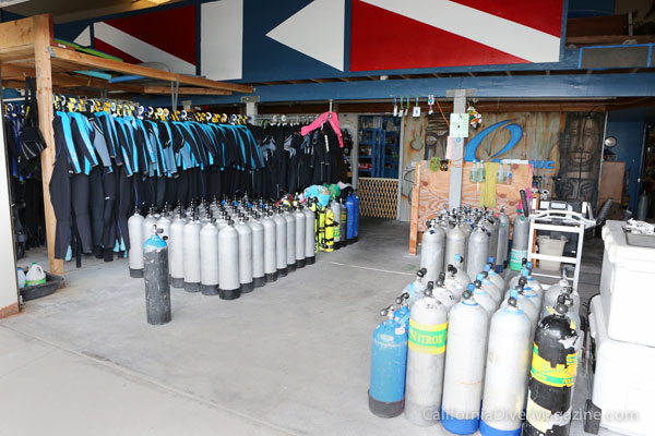 Kona Diving Company's rental gear. They're very well equipped.