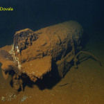 Still live 1000 pound bomb strapped down in ship wreck USS Saratoga