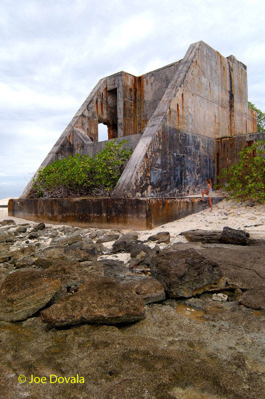 A bunker on Aomen Island used during H-bomb tests at Bikini Atoll