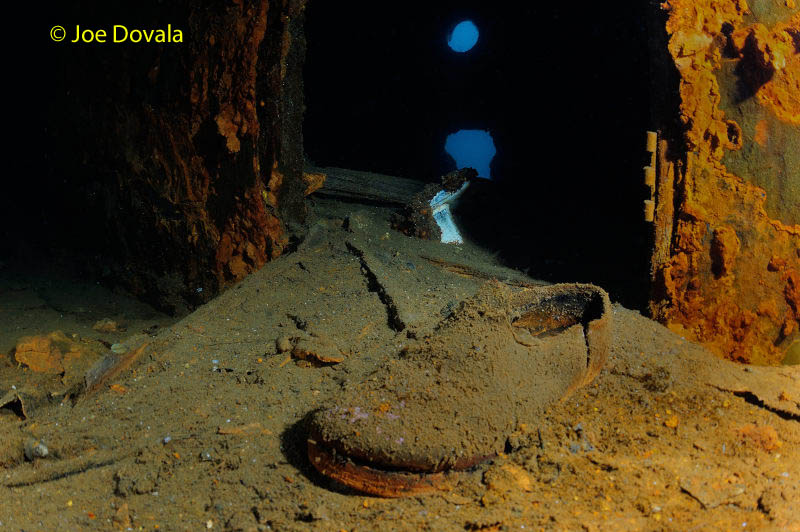 A shoe found on the Wreck of PLM 27
