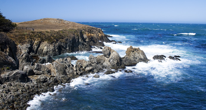 The beautiful, rugged coastline near Mendocino