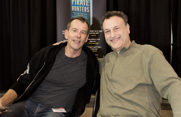"John Chatterton and Robert Curson, author of the bestseller ""Shadow Divers"" and the soon to be released ""Pirate Hunters"""