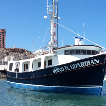 The Quino el Guardian, designed for conservation, education, research and unique charters in the Sea of Cortez
