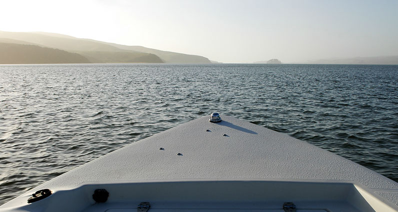 Looking west on Tomales Bay, towards the ocean.