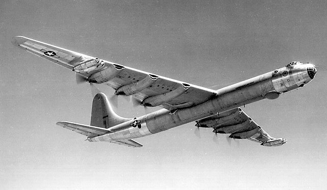 The Corsair B-36D used both piston and jet engines.