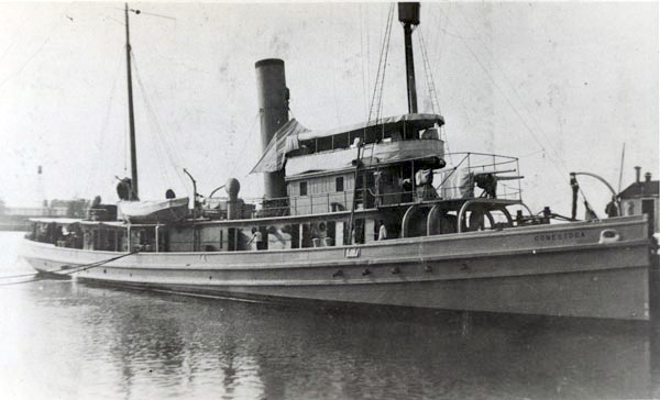 USS Conestoga at San Diego, California, January 1921. (Credit: Naval Historical Center Photograph NH 71299)