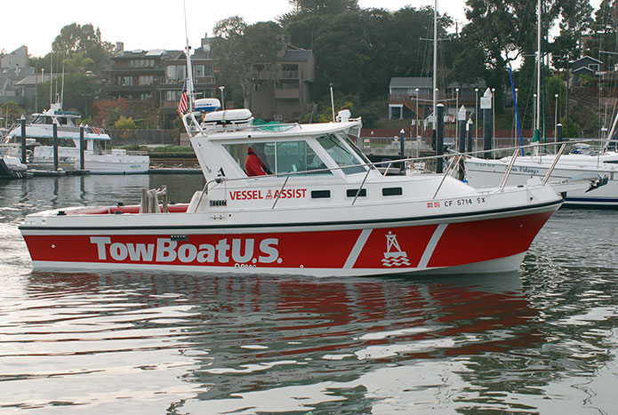 The new name on the TowBoatUS Santa Cruz response vessel.
